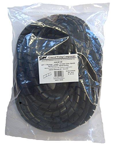 GW Kabelbinder-Technik, Spiralschlauch aus PE, Bündelung. min./max. 9-65 mm, schwarz, 10 m, GSB-9B/10