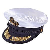 Bristol Novelty BH471 Captains Deluxe Hat, Mens, Multi-Colour, One Size