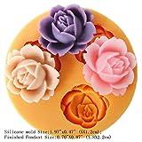 LC Drei Loch Blumen X101Fondant Form Silikon Zucker Gießharz Craft Formen DIY Kuchen dekorieren