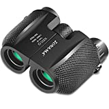 Compact Binoculars for Adults, Large Eyepiece High Power Binocular, Waterproof Durable 10x25 Binoculars