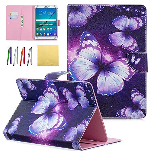 ür Samsung Galaxy Tablet, Apple iPad, Amazon Kindle, Google Nexus und weitere 16,5-26,7 cm (6,5-10,5 Zoll) Tablet 011 Purple Butterfly for 6.5-7.5 inch Tablet ()