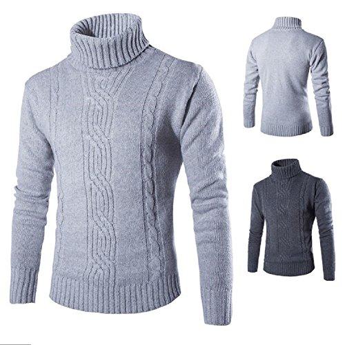 Herren Fashion Strickpullover Pullover, Casual Style Grau - Grau
