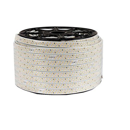 Wasserdicht drei Reihen 220V 2835 IP65 LED Band LED-Stripe 20m LED Streifen Lichterkette1800 LEDs (180 LEDs/Meter) viel heller als normale Lichtband (weiß)[Energieklasse A++]
