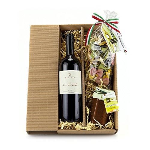 Preisvergleich Produktbild Geschenk Set Italien-Urlaub mit Rotwein Nero d'Avola (1 x 0.75 l)