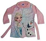Disney Frozen Die Eiskönigin Mädchen Bademantel (92, Rosa)