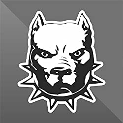 Sticker Pit Bull Pitbull Terrier Cane Dog Chien Perro Hund - Decal Cars Motorcycles Helmet Wall Camper Bike Adesivo Adhesive Autocollant Pegatina Aufkleber - cm 10