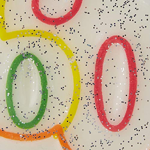 fd2e012034fd Amscan 9900813 75 cm Milestone 60 Años Cumpleaños Vela
