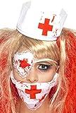Smiffys Déguisement Femme, Kit de l'infirmière sanglante, avec masque, bandeauet cache-œil, effet sang, 35767