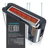 Arendo - Automatik Toaster Langschlitz | mit Defrost Funktion | Wärmeisolierendes Doppelwandgehäuse | Automatische Brotzentrierung | Brötchenaufsatz | herausziehbare Krümelschublade |GS-zertifiziert - 5