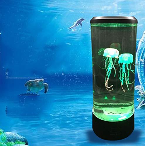 Medusa lámpara Acuario, LED luz de Noche,4 Horas a intervalos Regulares,7 Colores,Carga USB Se Utiliza para Decorar el Dormitorio.