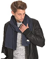 Selected Homme - SHElement écharpe H - Homme Bleu Taille Onesize 100 % coton.