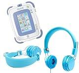 Duragadget casque bleu pour enfant pour tablette tactile Vtech Storio 2 & 3 Wifi –...
