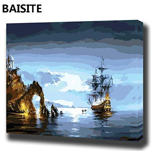 baodanla Kein Rahmen Ölgemälde Landschaftsbild Leinwand mit