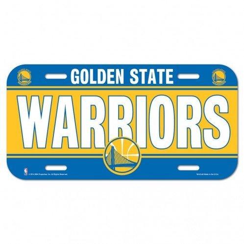 chen, Erwachsene (Unisex), Kinder (Unisex), Golden State Warriors License Plate, Team Color, Einheitsgröße ()