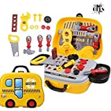 Tool Set Toys For Kids By CIERN , Pretend PlaySet,Amazing Little Engineer Pretend Toolbox Construction Tools, Role Play Engineer Workshop Tool KitTool Set Toys For Kids, (Set Of 25 Pcs)