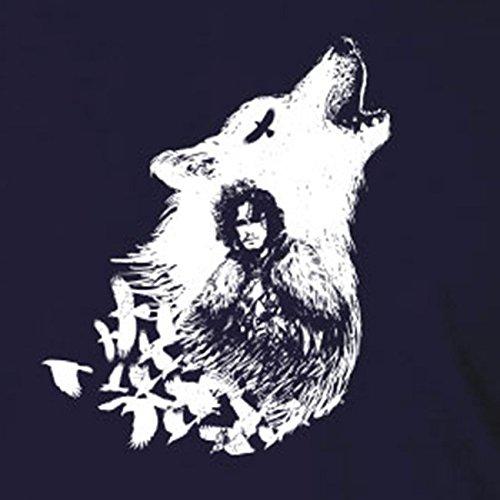 GoT: Snow Wolf - Stofftasche / Beutel Schwarz