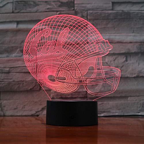 WEREWTR 3D Nachtlichter Golden Bears 7 Farbwechsel Nachtlicht Baby Touch Schalter Farbige Lichter LED USB Schreibtischlampe - Golden Bears Basketball