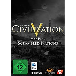 Sid Meier's Civilization V – Map Pack: Scrambled Nations DLC [Mac Steam Code]
