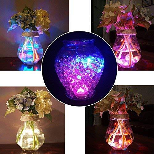 10pcs Unterwasser-LED-Lichter Wasserdichte Unterwasserlichter SMD 3528 RGB Stimmungs-Lichter für Vase, Schüsseln, Aquarium und Parteidekoration IR-Fernsteuerungs - 6