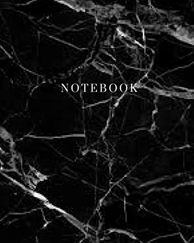 Notebook - Marble Black Cover: (8 x 10) Writing Journal,