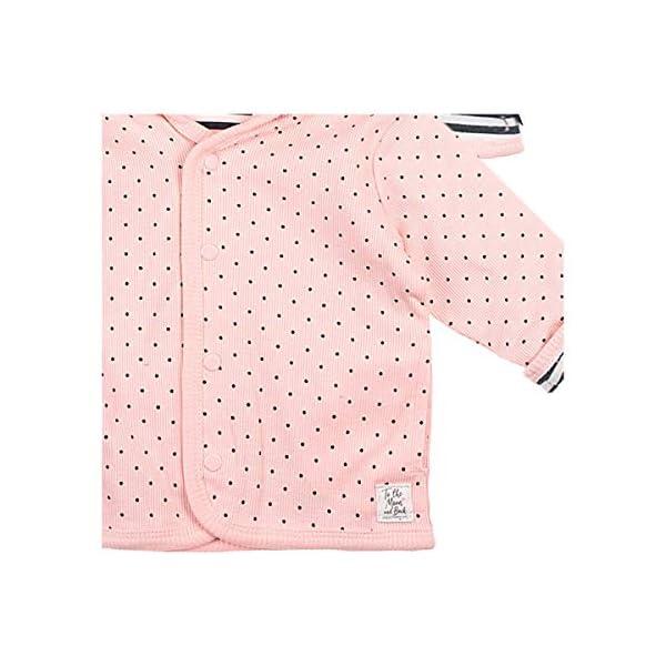 Chaqueta reversible con capucha Ringel puntos Gris antracita/rosa. Talla:56 3