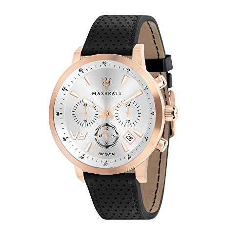 MASERATI Orologio Cronografo Quarzo Uomo con Cinturino in Pelle R8871134001