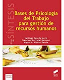 Bases de psicología del trabajo para gestión de recursos humanos (Síntesis psicología. Psicología evolutiva y de la educación)