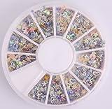 Nails Gaga 2 Wheel 3d Nail Art Tips/ Glitters 3D start Nail decorations