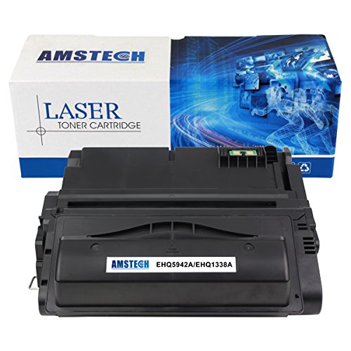 Amstech compatible toner Q5942A Q1338A Nero Cartridge toner replacement per HP LaserJet 4200 4200n 4200tn 4200dtn 4200dtns 4200dtnsl 4300 4300n 4300tn 4300dtn 4300dtns 4300dtnsl 4250 4250n 4250tn 4250dtn 4250dtnsl 4350 4350n 4350tn 4350dtn 4350dtnsl 4345mfp Standard Yield (10000 Pagine)