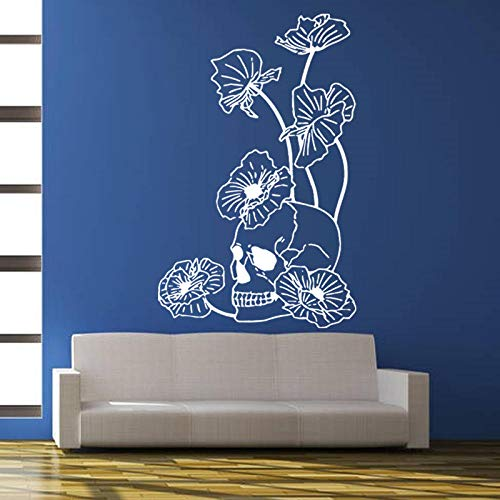 Wandbild Halloween Kreative Blume Wandaufkleber Wohnzimmer Dekoration Spukhaus Veranda Mall Weiß 40X94 cm (Easy Diy Halloween-spiele)