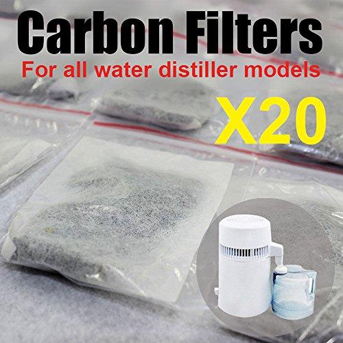 20D & Y Aktivkohle Filter Packs für reines Wasser - Kokosnuss-wasser-filter