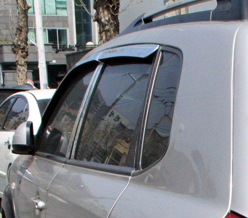 Tucson bis 2010 Chrom Windabweiser Regenabweiser Safe Window Visor Chrome (Hyundai Window Visor)