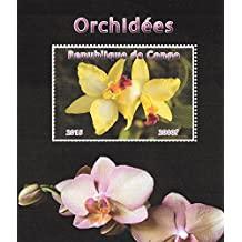 Adressenstempel « ORCHIDEE » mit Kissen Gärtner Florist Blume Firmenstempel