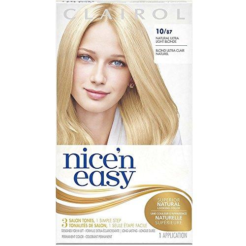 Clairol Coloration de longue durée Nice 'n Easy - Couleur 087 - Blond ultra-clair naturel