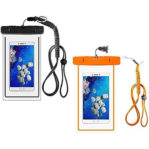 Enuo Funda Impermeable La bolsa seca Bolsa del teléfono celular Con la cuerda de seguridad militar de la correa Para Kayak Esquí Trineo Canotaje Surf Para el iPhone 6 6S Plus 5S Samsung Galaxy S7 S6 S5 Note 5 LG G5 G4