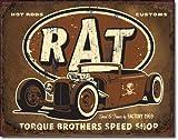 Desperate Enterprises Torque Rat Rod BLECHSCHILD USA GROß 40x31cm S2682