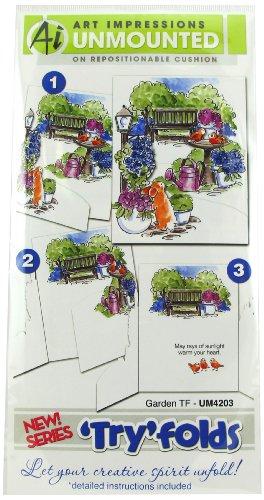 Preisvergleich Produktbild Art Impressions 4203 TryFolds Series Garden TF Rubber Stamp by Art Impressions