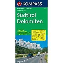 Kompass Karten, Südtirol, Dolomiten (KOMPASS-Panoramakarten, Band 356)