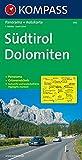 Kompass Karten, Südtirol, Dolomiten (KOMPASS-Panoramakarten, Band 356) -