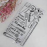 Moonbrid Handwerk Werkzeug DIY Silikon Klar Stempel Blatt Scrapbooking Album Handwerk