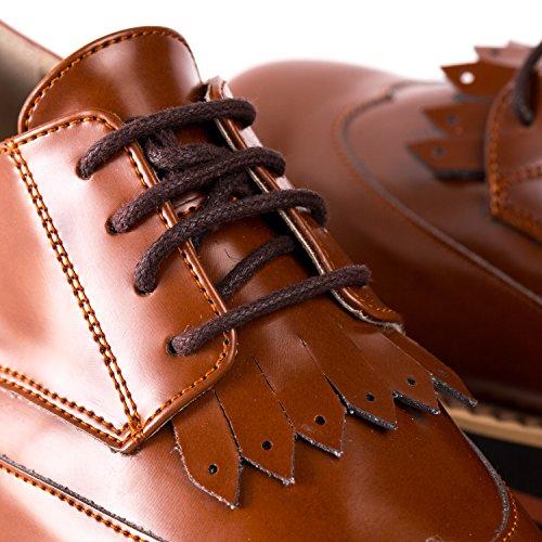 NAE Sandra - Damen Vegan Schuhe (38, Braun) - 6