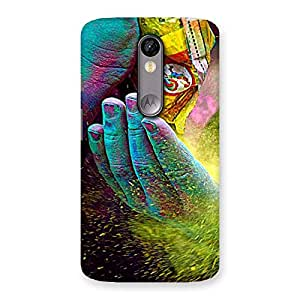 Delighted Hands and Colors Back Case Cover for Moto X Force