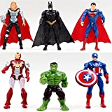 6 Sets Superhelden Avengers Iron Man Hulk Captain America Superman Batman Action Figuren Geschenk Kollektion von Kinder 'S Toys