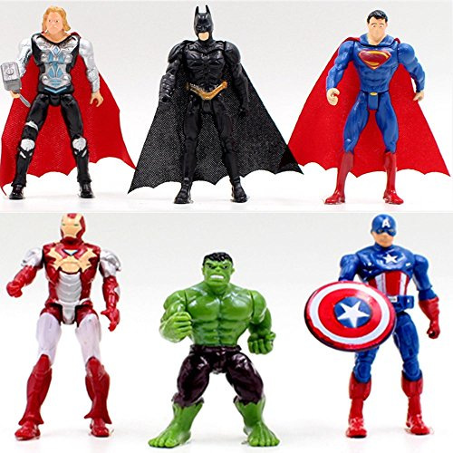 6pcs Superhero...