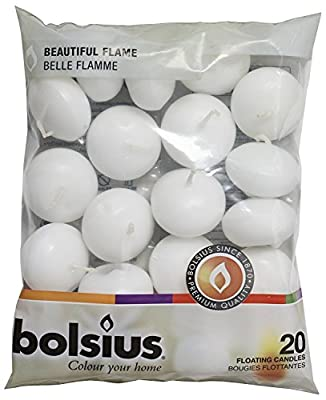 Bolsius 103632053702 Floating Candle, Paraffin Wax, White by Bolsius