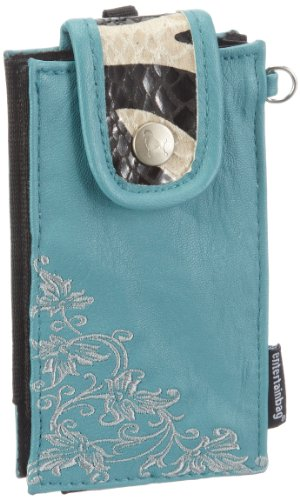 Poodlebags Womens Entertainbag   Quite   Petrol Wallets Turquoise Türkis ( Petrol) Size: 7x13x2