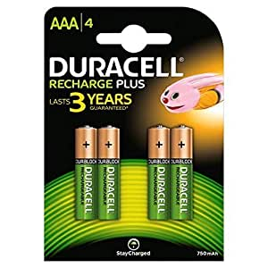 Buy Duracell AAA 750mAh Rechargeable Batteries - Pack of 4