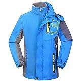Kinderjacken 3 in 1 Funktionsjacke Doppeljacke Kinder Wasserdichte Warm Regenjacke Outdoor Wandern Softshell Jacke