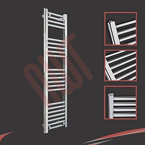 300mm (w) x 1200mm (h) - Radiateur sèche-serviettes plat chromé Barre Horizontale Diamètre: 22mm, Bar Modèle: 4 + 5 + 6 + 7