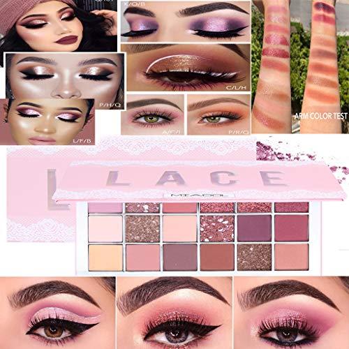 Lidschatten Glitzer Lidschatten Palette 18 Lace Lidschatten Palette Bunt Lidschattenscheibe Desert Rose Pearl Matte Polarized Multi Colored Eyeshadow